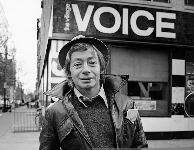 Arthur Bell outside The Village Voice