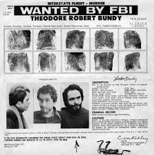 FBI wanted poster featuring Ted Bundy